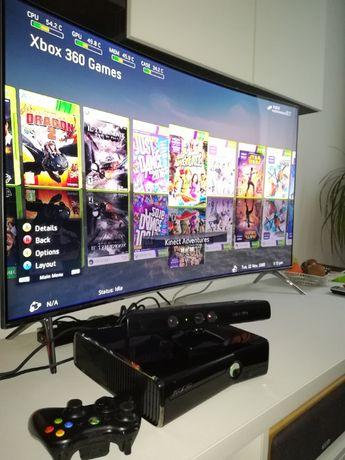 Xbox 360 Pachet Full + Kinect + 75 de jocuri GTA V Fifa 19 Minecraft