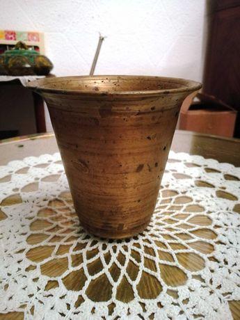 Mojar antic, pisalog, piua cu pistil din bronz masiv, anii '20