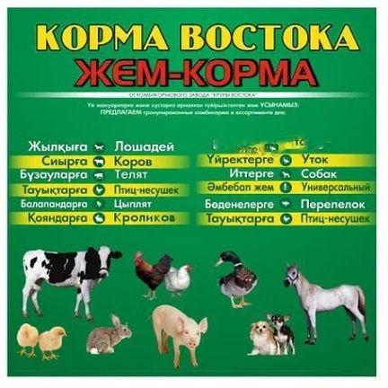 Комбикорм корм для птиц и животных