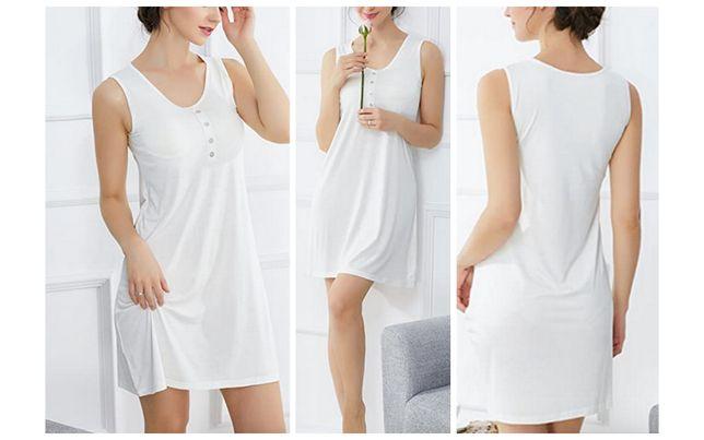 Новая сорочка комбинация домашнее платье с бюстгальтером 42 США