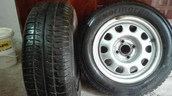 Продавам 8 бр. гуми 14 цола - летни и зимни