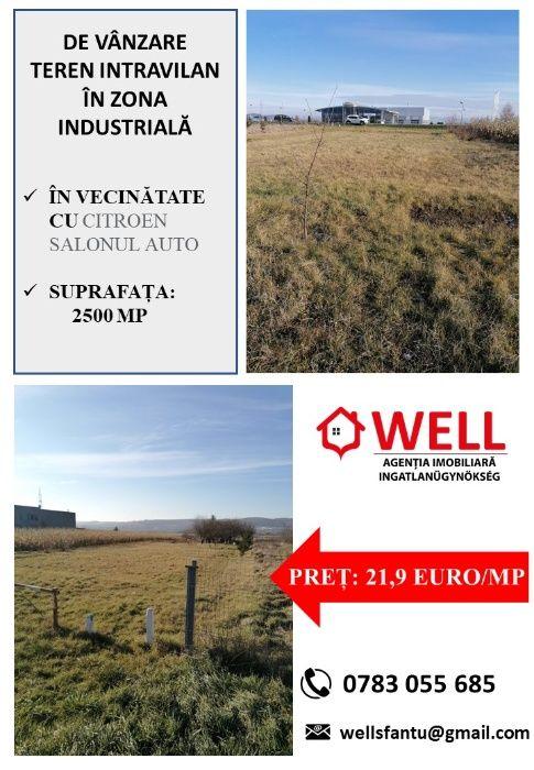 De vânzare teren intravilan în zona industrială între Sfântu Gheorghe