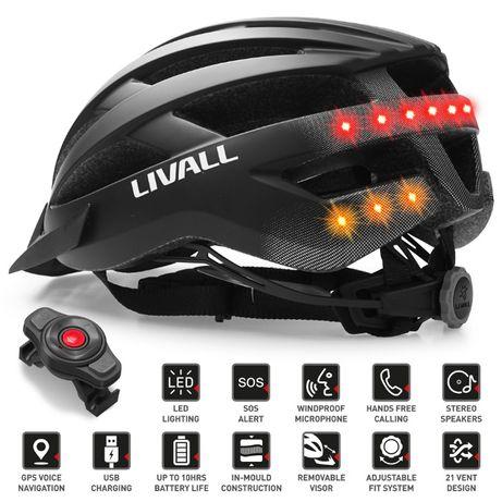 Casca de protectie smart bicicleta Livall MT1 rosu / negru