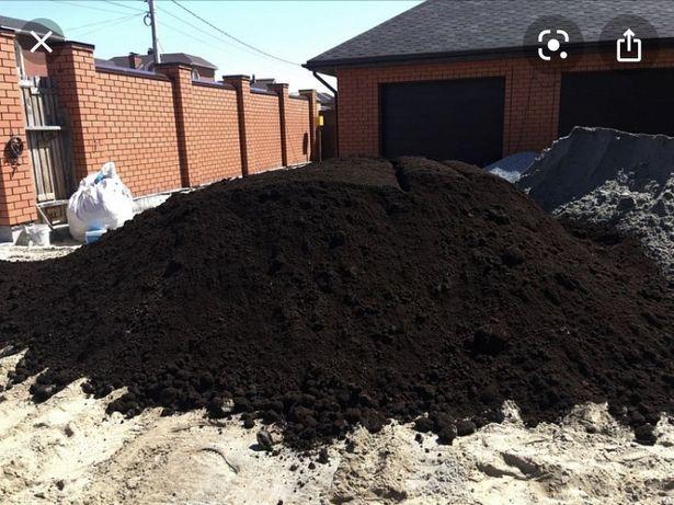 Чернозем хороший плодородны с доставкой Камаз 15 тонник Уральный песок