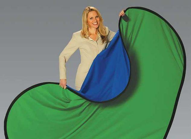 Хромакей складной 1.5 х 2 метра Фон зеленый, синий. раскладной в чехле
