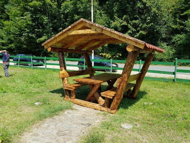 Foisor rustic, lemn masiv din stejar