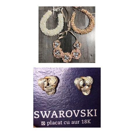 Cercei Swarovski, placati aur 18K / coliere handmade