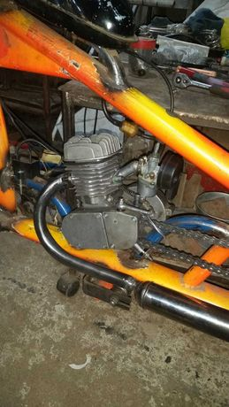 Bicicleta cu Motor Benzina _ Chopper