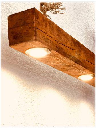 Осветително тяло от дърво с LED светлина