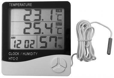 Termometru, Ceas Si Higrometru, Cu Afisaj LCD - HTC 2
