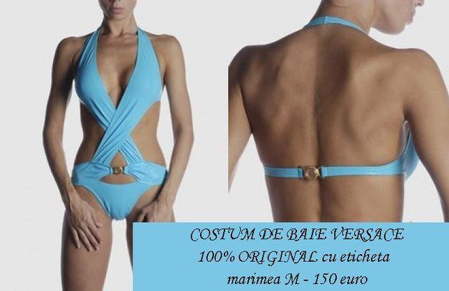 Costum de baie intreg monokini Versace ITALIA - M - turcuaz albastru