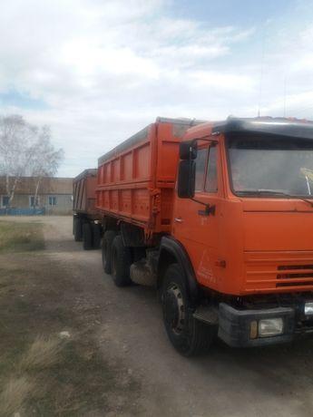 Камаз 55102 с прицепом