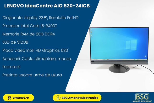 LENOVO All in One IdeaCentre AIO 520-24ICB - BSG Amanet & Exchange