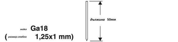 Игли за пневматичен такер 50мм