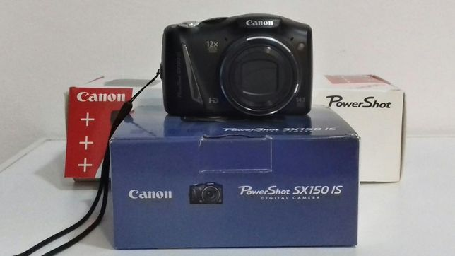 Vand Canon PowerShot SX150IS,14.1MP,Black+Husa+Card 4G