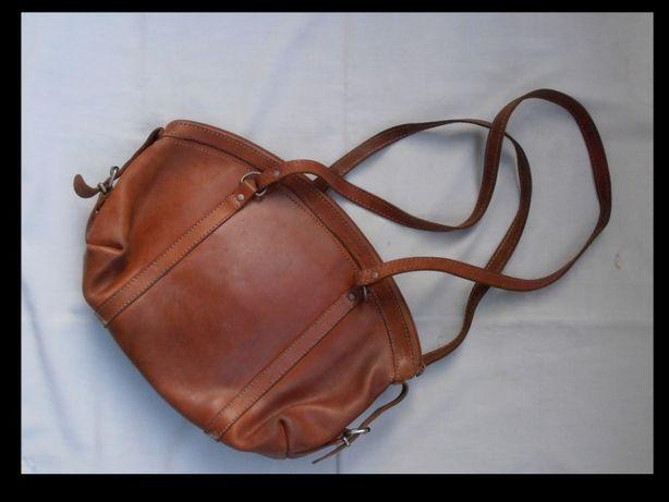 Geanta-poseta vintage dama din piele naturala hand made