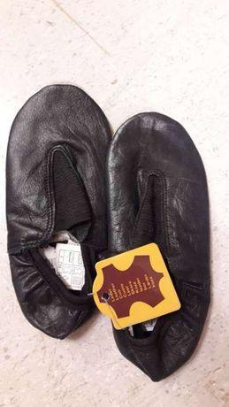 Papuci piele gimnastica