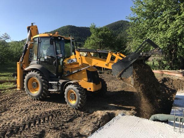 Săpătură buldoexcavator, terasamente, Excavator ,închiriere,buldo