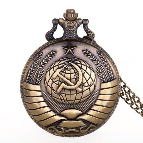 Кафяв джобен часовник СССР