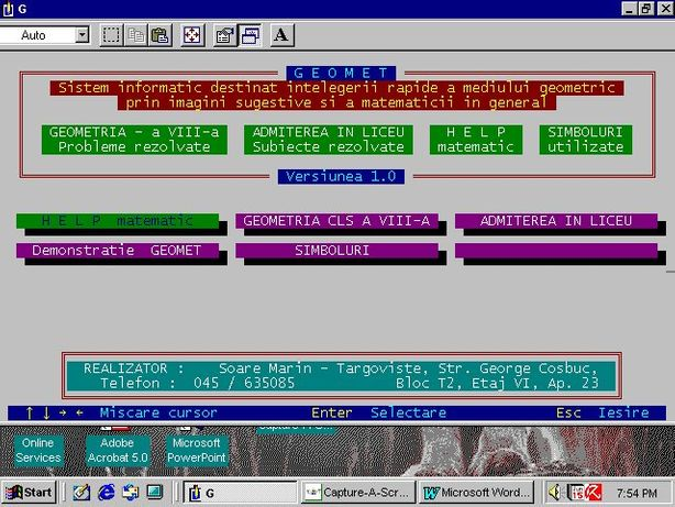 Ofer Meditatii Matematica - Am realizat o aplicatie in Turbo-Pascal