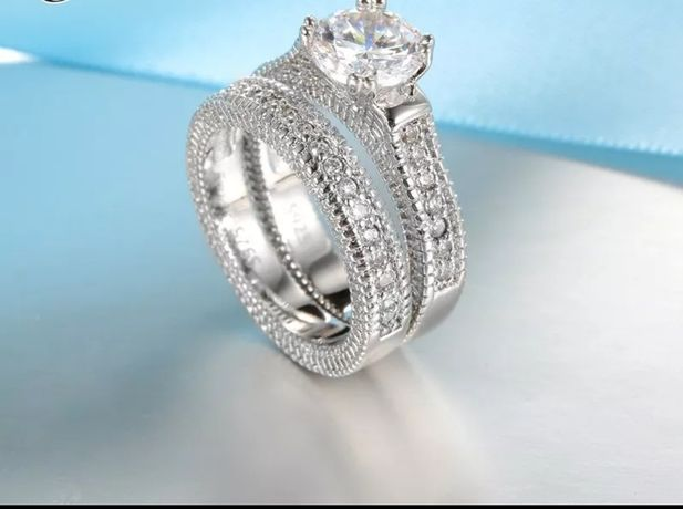 Inel de logodna placat cu argint model deosebit
