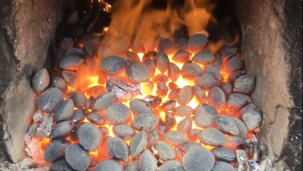 Brichete pentru foc din cocs + lignit. Timp de ardere 12 ore