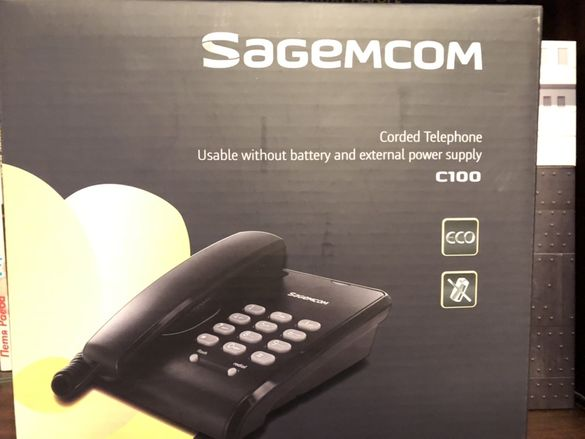Стационарен телефон Sagemcom C100