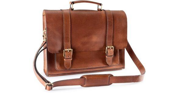 Кожена чанта от естествена кожа H&M