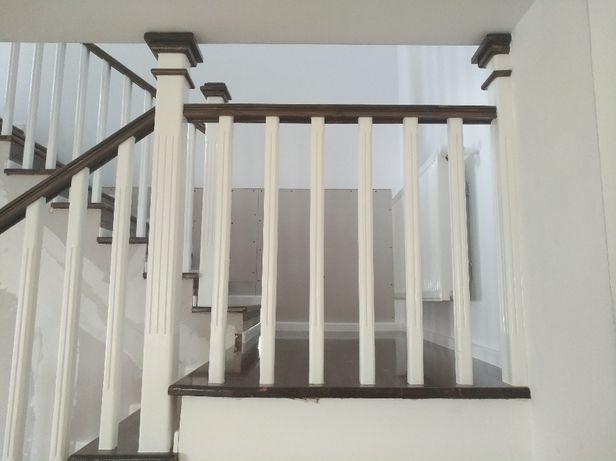 Balustrade din lemn masiv brad