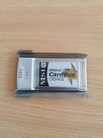 Нови MSI Wireless 11G cardbus CB54G2 и 10/100 lan карта linksys