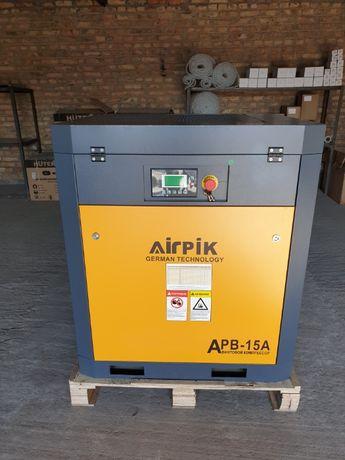 Винтовой компрессор APB-15A, -1,6 куб.м, 11кВт, AirPIK, Гарантия!