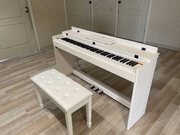 Новое цифровое пианино отличного качества с банкеткой