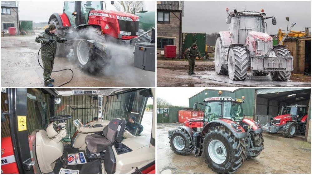 Spuma activa utilaje.Spuma activa curatat tractor 20 kg. 1L+20L apa.