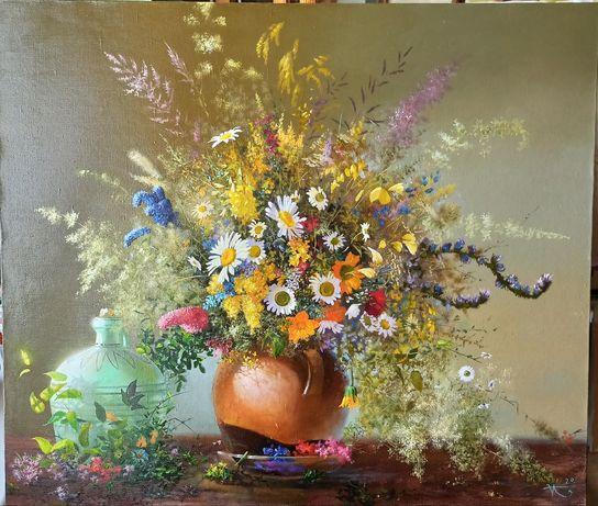 Картина картинка багет рама букет цветы