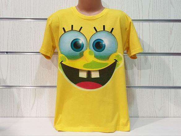 Нова детска тениска с дигитален печат Спондж боб, SpongeBob