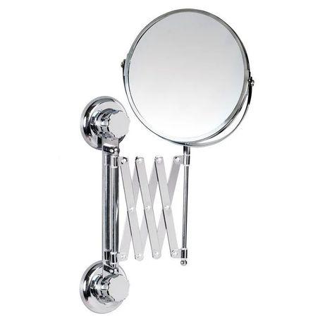 Двустороннее выдвижное зеркало косметическое настенное в ванную PSB745