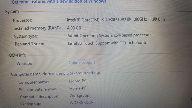 "Gaming Dell slim 15"" i3 1.9 doua placi video 4g ram"