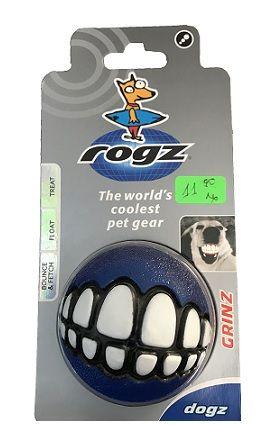ROGZ - Кучешка Топка GRINZ 6.4см - Твърда Играчка с място за Лакомство