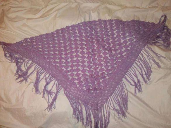 Ръчно плетен шал 100% вълна