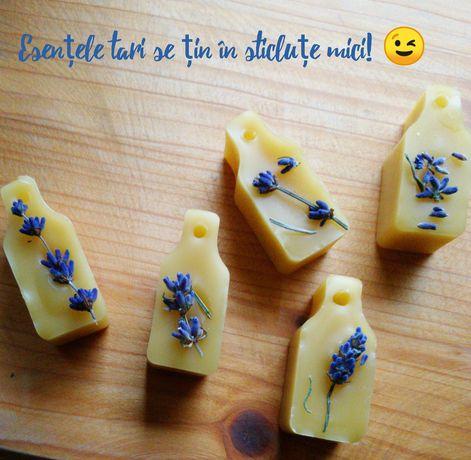 Capsule din ceară de albine /soia si lavandă