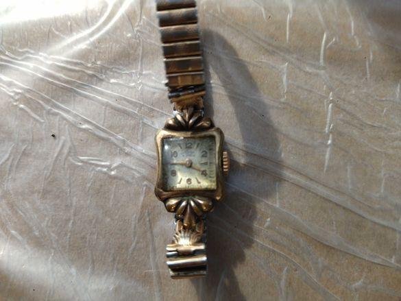 Антикварен позлатен часовник