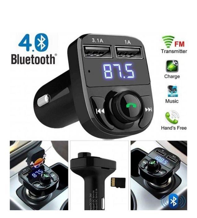 X8 Фм радио трансмитер и usb зарядно за кола handsfree bluetooth авто