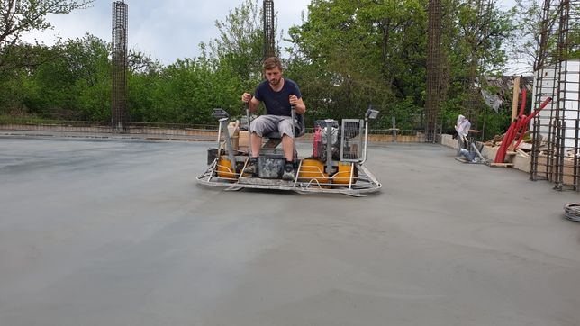 Turnare beton finisat sclivisit cu elicopter, ciment elicopterizat