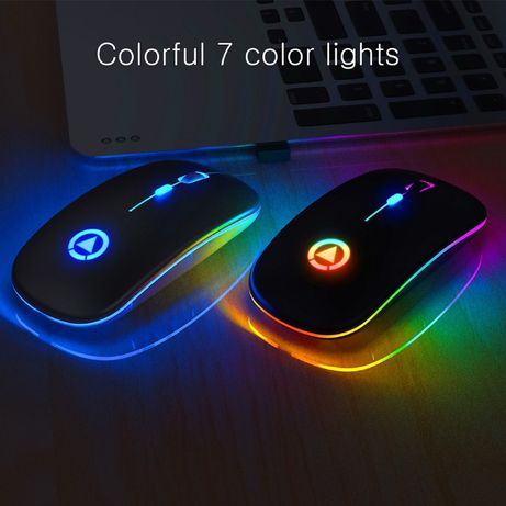 Mouse Wireless, Ultra-thin, USB Rechargeable, RGB - Noi, Factura