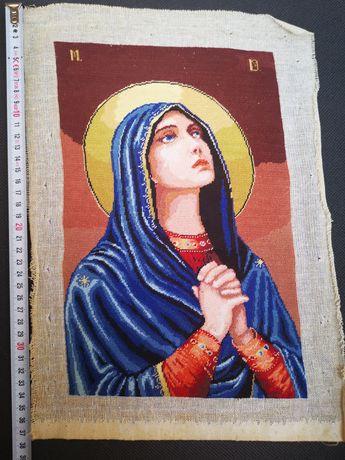 Vând goblen hand made Fecioara Maria