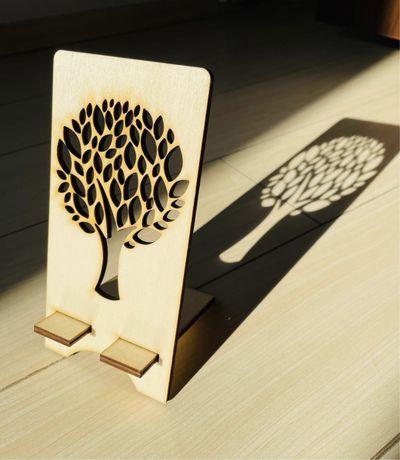 Suport lemn pentru telefon
