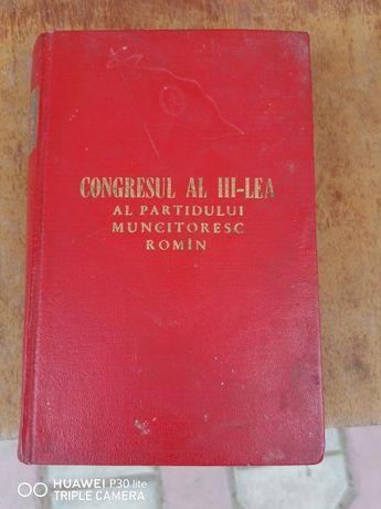 Vând carte pentru colecționari Congresul al III lea!