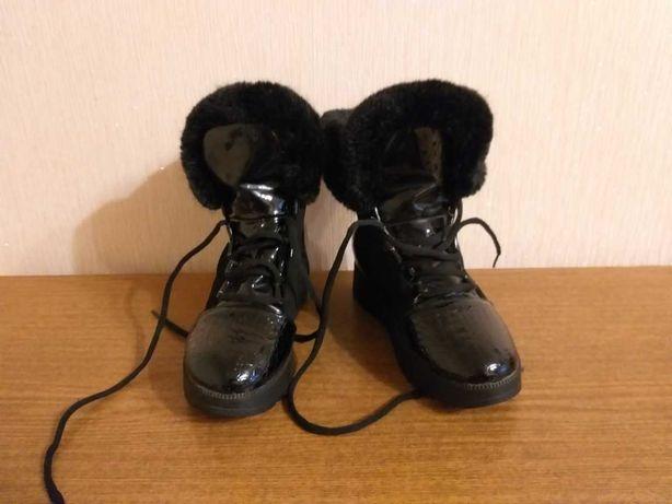 Зимние сапожки-ботинки для девочки, на размер 36-37