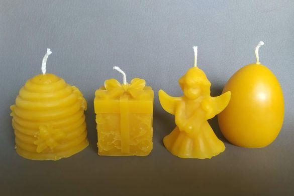 Ръчно изработени свещи от чист пчелен восък , собствено производство