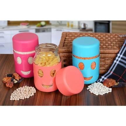 Буркани детска закуска с пластмасова облицовка и УСМИВКА 350/600мл